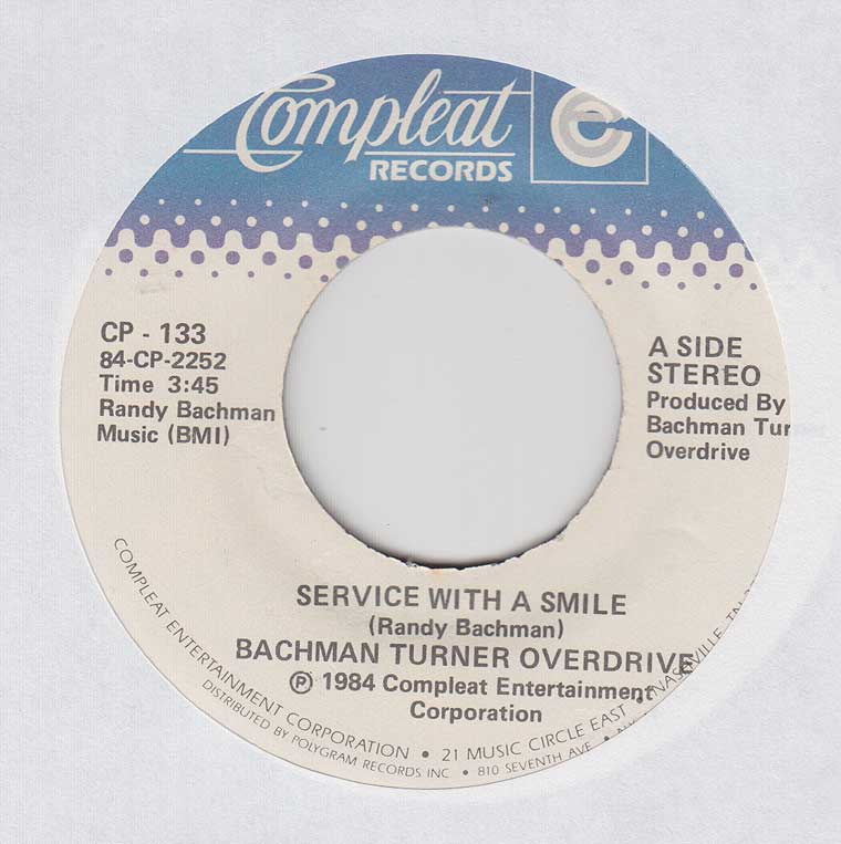 Bachman Turner Overdrive - Service With a Smile