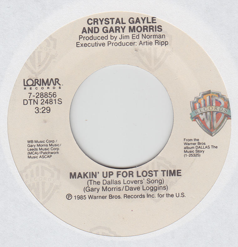 Crystal Gayle - Makin' Up For Lost Time / A Few Good Men