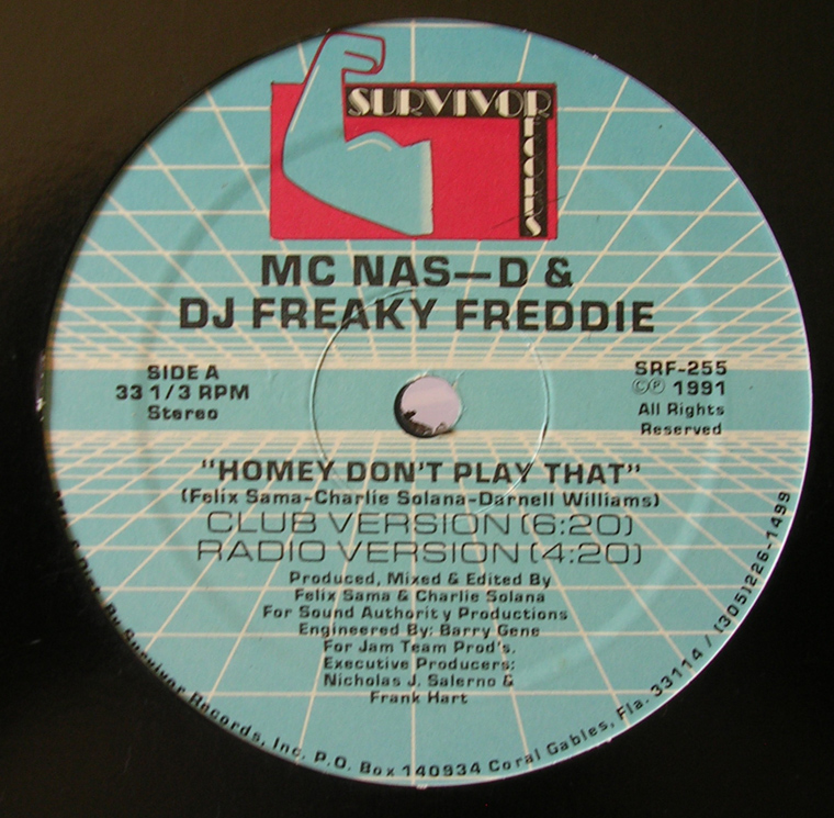 MC Nas-D & DJ Fred - Homey Don't Play That / Bass That Tune Vol. II