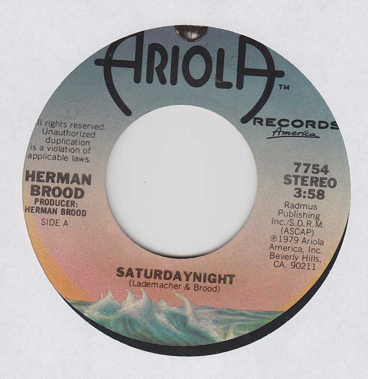 Herman Brood - Saturday Night / Back (In Y'r Love)