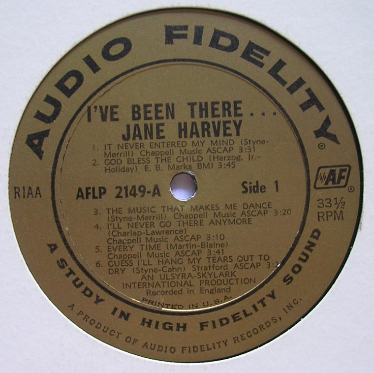 Jane Harvey - I've Been There