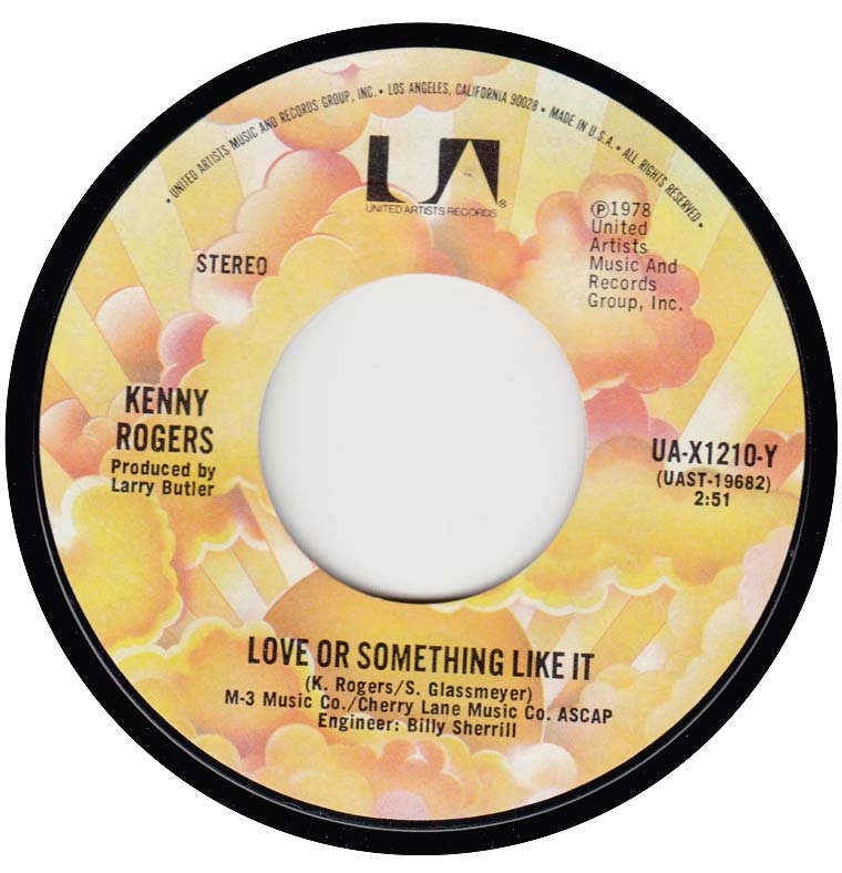 Kenny Rogers - Love Or Something Like It / Starting Again