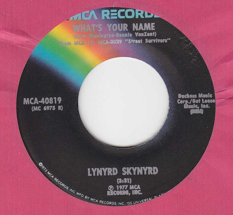 Lynyrd Skynyrd - What's Your Name / I Know A Little