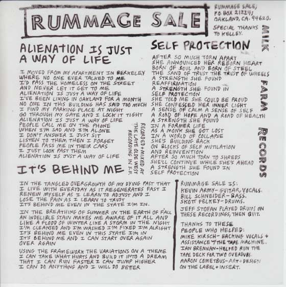 Rummage Sale - Alienation Is Just A Way Of Life