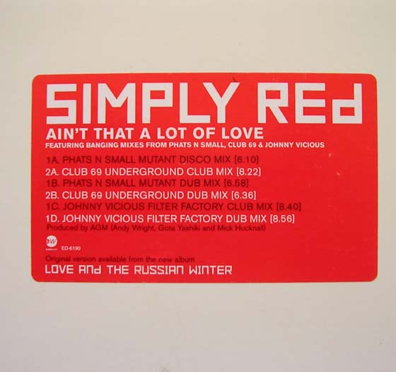 Simply Red - Ain't That A Lot Of Love