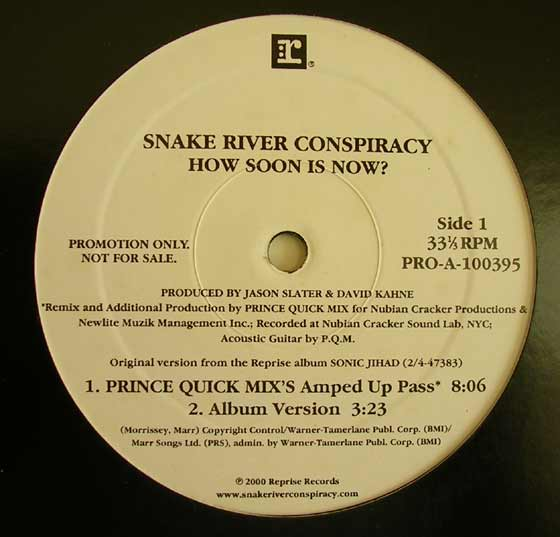 Snake River Conspiracy - How Soon Is Now?