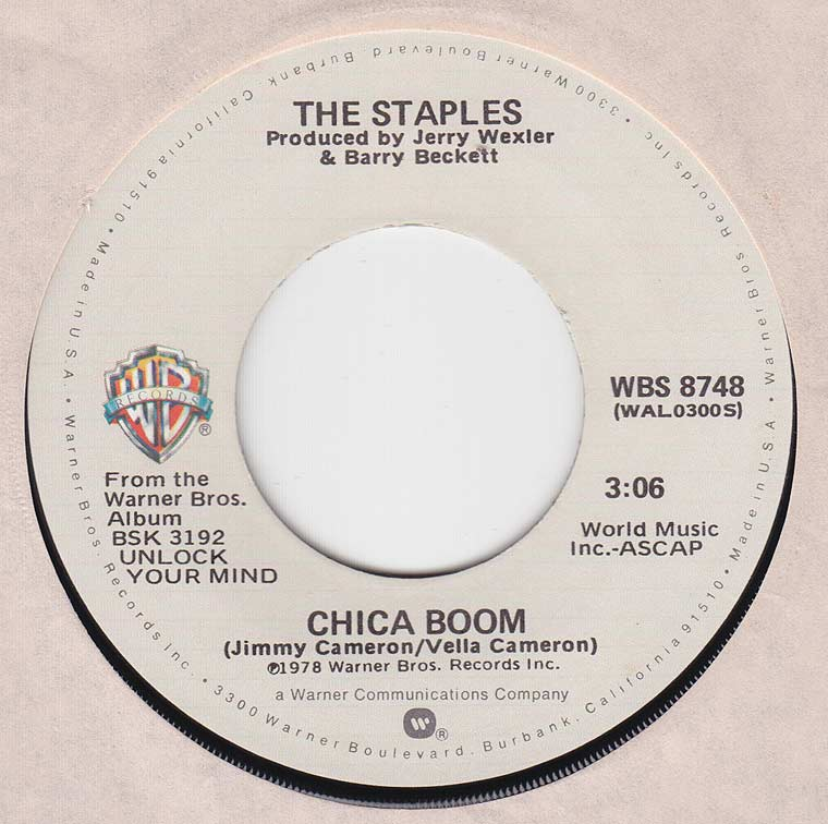 The Staples - Chica Boom / Handwriting On The Wall
