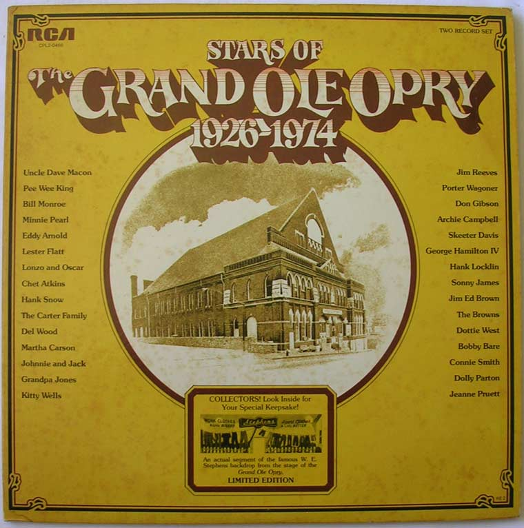 Various Stars Of The Grand Ole Opry 1926 1974 By Rca