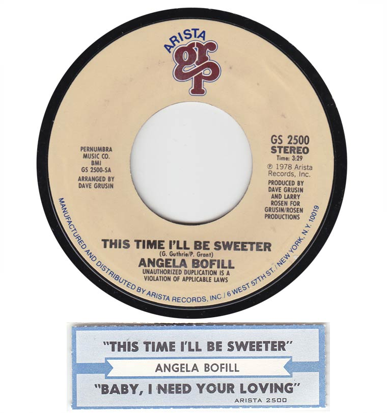 Angela Bofill - This Time I'll Be Sweeter / Baby, I Need Your Love