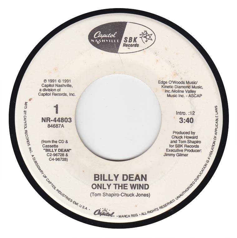 Billy Dean - Only The Wind / Simple Things