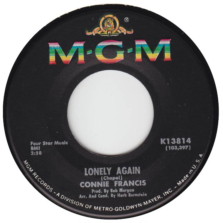 Connie Francis - Lonely Again / When You Care A Lot For Someone
