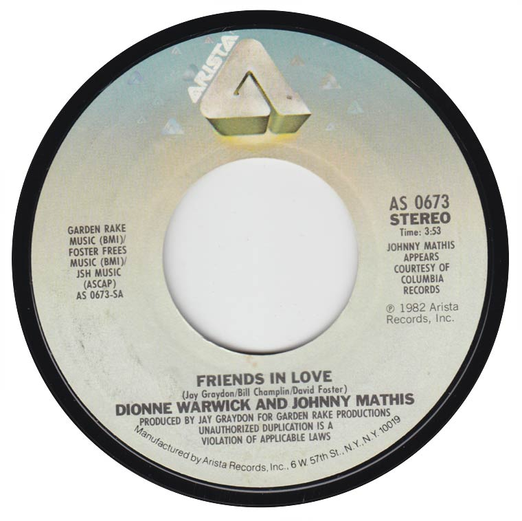 Dionne Warwick / Johnny Mathis - Friends In Love / What Is This