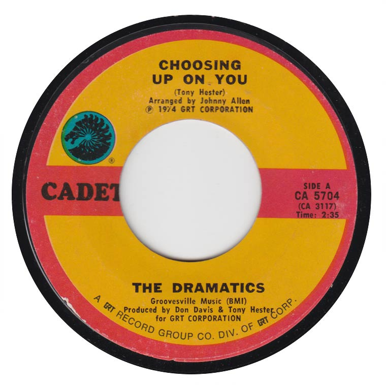 The Dramatics - Choosing Up On You / Door To Your Heart