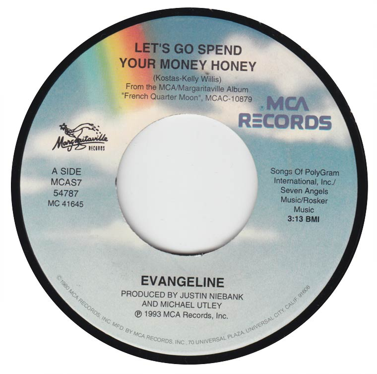 Evangeline - Let's Go Spend Your Money Honey / On The Levee