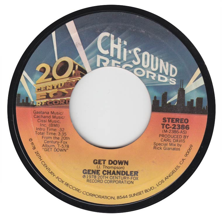 Gene Chandler - Get Down / I'm The Traveling Kind