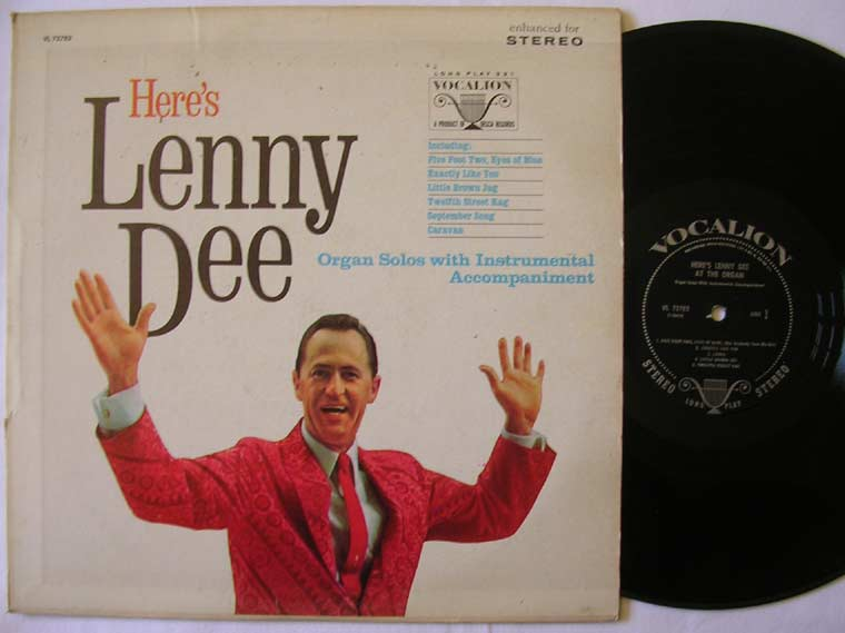 Lenny Dee Here S Lenny Dee At The Organ By Vocalion