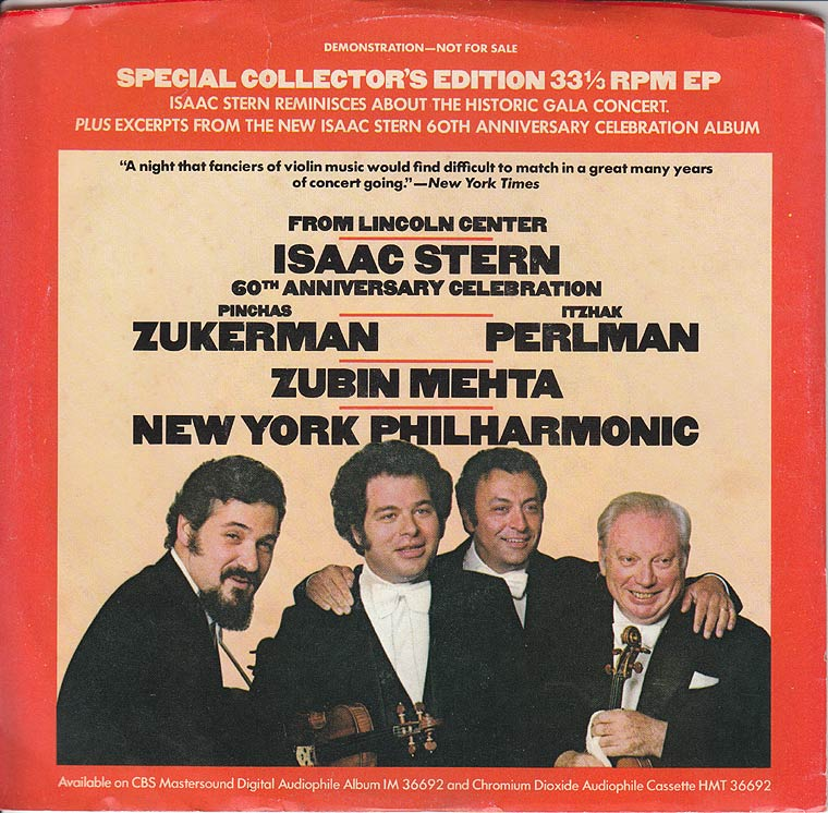 Isaac Stern - Isaac Stern Anniversary Gala From Lincoln Center