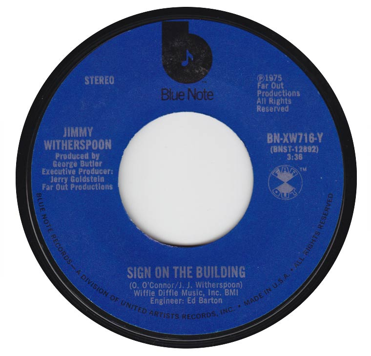 Jimmy Witherspoon - Sign On The Building / Pearly Whites