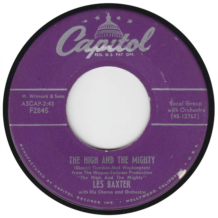 Les Baxter, His Chorus And Orchestra - The High And The Mighty
