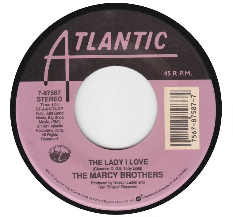 The  Marcy Brothers - The Lady I Love / Why Not Tonight