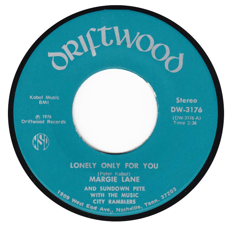 Margie Lane & Sundown Pete - Lonely Only for You / Reckless