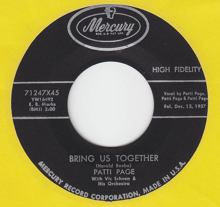 Patti Page - Bring Us Together