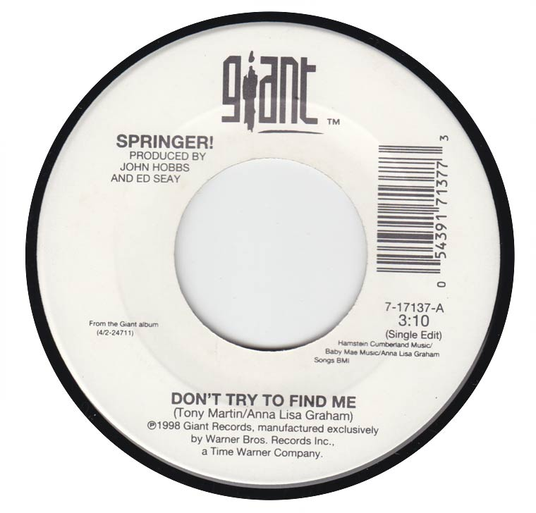 Springer - Don't Try To Find Me