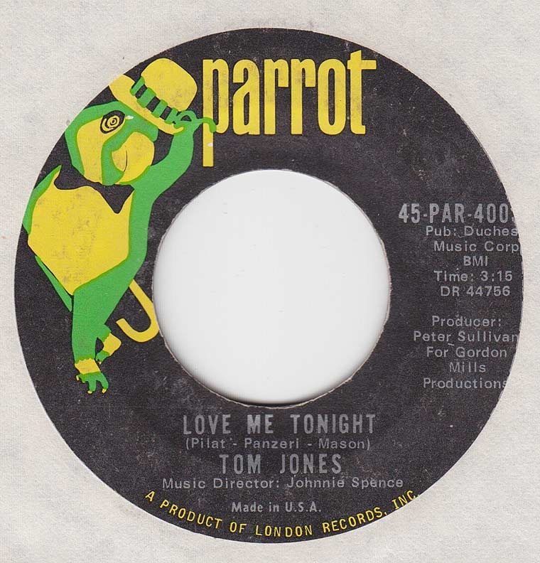 Tom Jones - Love Me Tonight / Hide And Seek