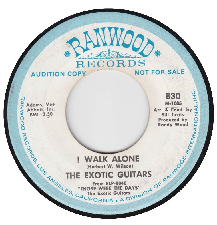 The Exotic Guitars - I Walk Alone / Twilight Time