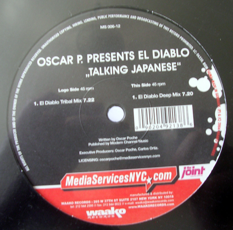 Oscar P Presents El Diablo - Talking Japanese